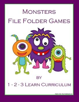 Monster File Folder Games