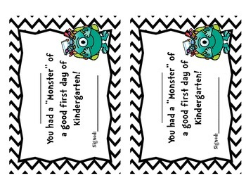 Monster First Day Certificates-Freebie!