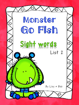 Go Fish/Memory - A Sight Word Game.