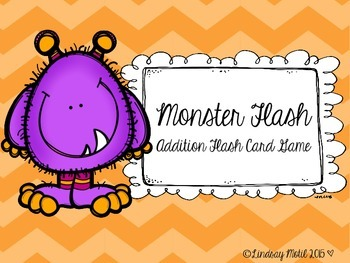Monster Flash Addition Flash Cards