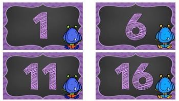 Monster Floor Labels FREEBIE