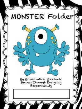 Monster Folder Covers (Zebra)