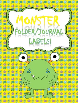 Monster Folder Covers/Labels