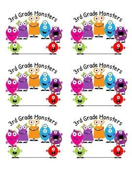 Monster Folder Labels