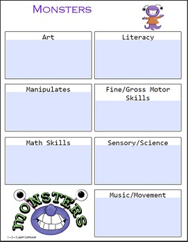 Monster Forms and Activities