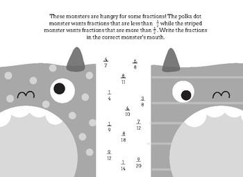 Monster Fraction Match