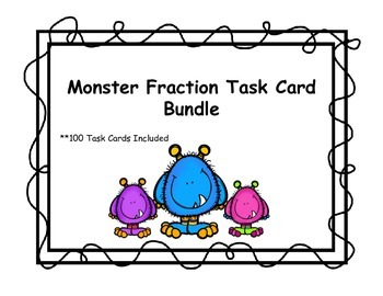 Monster Fraction Task Card Bundle!