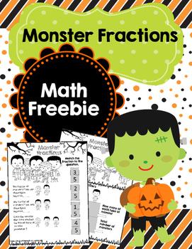 Monster Fractions-A Halloween Freebie Treat