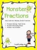 Monster Fractions Problem Solving FREEBIE