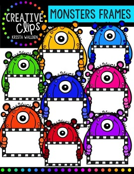 Monster Frames {Creative Clips Digital Clipart}