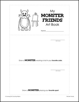 """Monster Friends - Girl Scout Brownies - """"Making Friends"""" Pack - All 5 Steps!"""