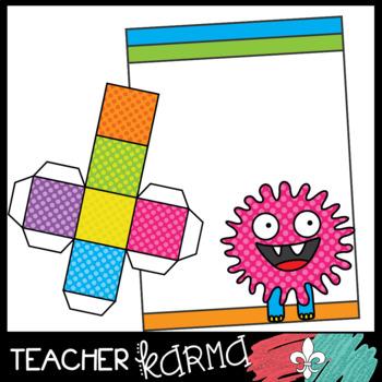 Monster Game Clipart Kit - DIY Game Boards