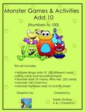 Monster Games & Activities - Add 10