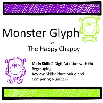 Monster Glyph 2 Digit Addition with No Regrouping