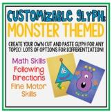Customizable Monster Glyph: Cut/Paste Math Art Project