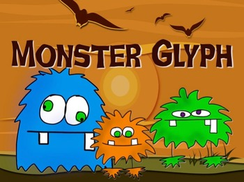 Monster Glyph for Halloween fun and following directions!