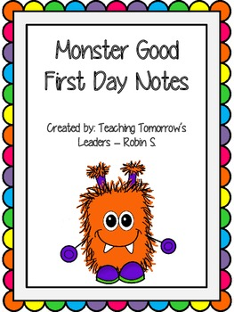 Monster Good First Day of School Certificate