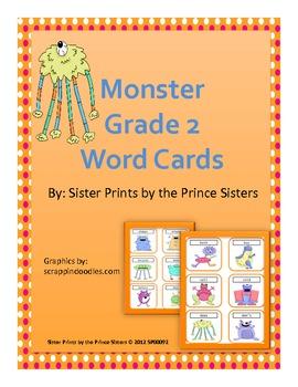 Monster Grade 2 Word Cards