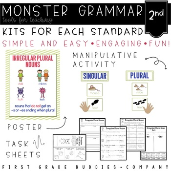 Monster Grammar: Second Grade CC Aligned Mini Lessons for the Whole Year