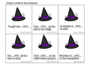 Monster Grammar Syntax Activities: Nouns, Verbs, & Adjectives