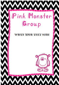 Monster Groups Classroom Display {EDITABLE}