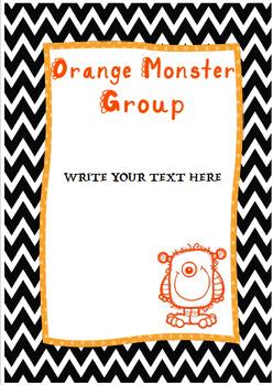 Monster Groups Classroom Display {EDITABLE}