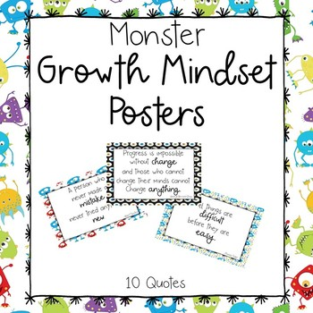 Monster Growth Mindset Posters