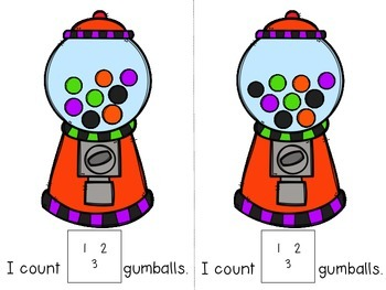 Monster Gumball Counting Adapted Book