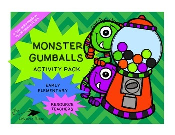 Monster Gumballs Activity Pack (Letters, Numbers, Shapes, Colors...)