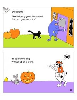 Monster Halloween Book for Emergent Readers