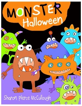 Monster Halloween Book for Emergent Readers