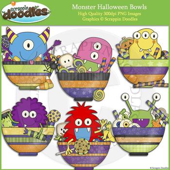 Monster Halloween Bowls