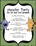 Monster Halloween Party Math and Literacy for 1st and 2nd Graders