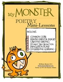 Monster / Halloween Poetry Mini-lesson Unit: Common Core Aligned Similes
