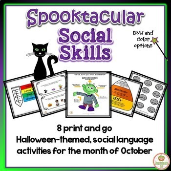 Halloween Social Skills Bundle