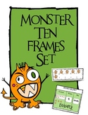 """Monster (Halloween) Ten Frame Set and Math Center """"Monster Mat"""""""