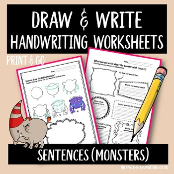 Monster Handwriting Practice