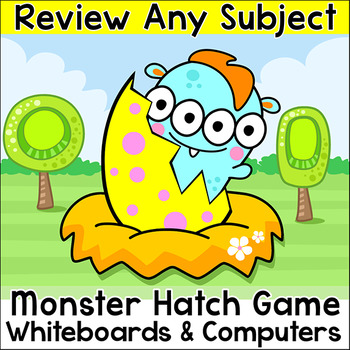 Monster Hatch Review Game for any Subject - Quiz-E SmartBoard & Computer Game