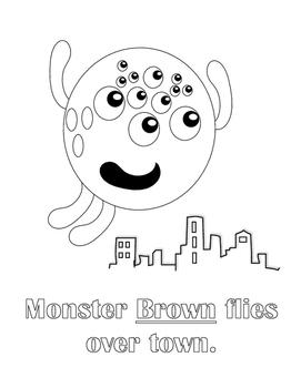 Monster Helpers Color-Ins