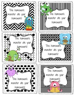 Monster Homework Passes