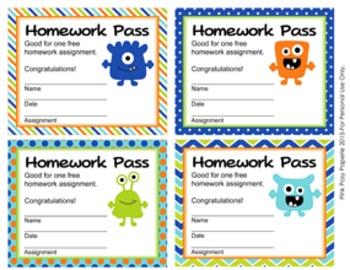 Monster Homework Passes