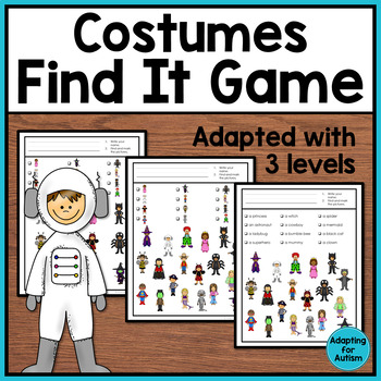 Halloween Game: Costumes Find It adapted with 3 levels