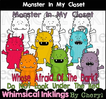 Monster In My Closet Clipart Collection