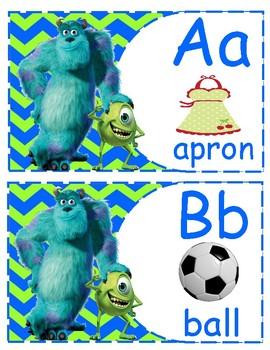 Monster Inc ABC English