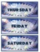 Monster Inc. Days of the week and Months of the year
