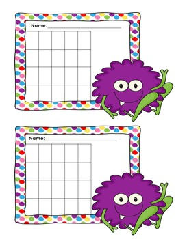 Incentive Charts with a Monster Theme