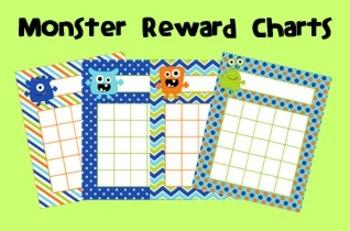 Monster Incentive Reward Charts
