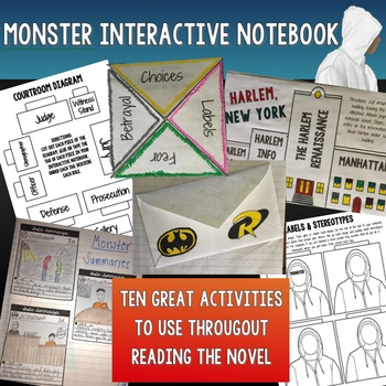 Monster (Walter Dean Myers) Unit Interactive Notebook