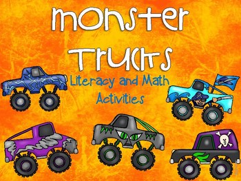 Monster Jams Literacy and Math Activities for Pre-K and K
