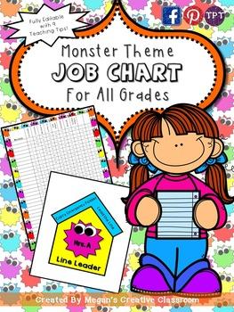 FREE Monster Job Chart Classroom Essentials {Summer Celebration}